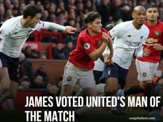 James được bình chọn là cầu thủ hay nhất trận đấu