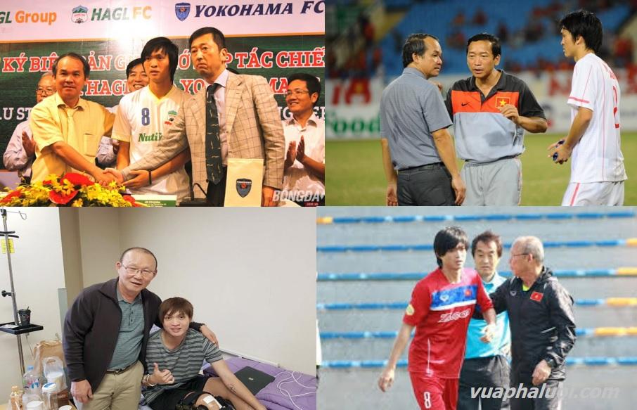 Bầu Đức, huấn luyện viên Park Hang Seo và Tuấn Anh