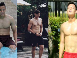 Bộ ngực đàn ông đẹp của cầu thủ Việt Nam