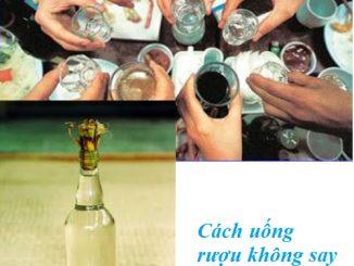 Cách uồng rượu không say